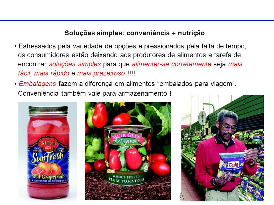 Soluções simples: conveniência + nutrição
