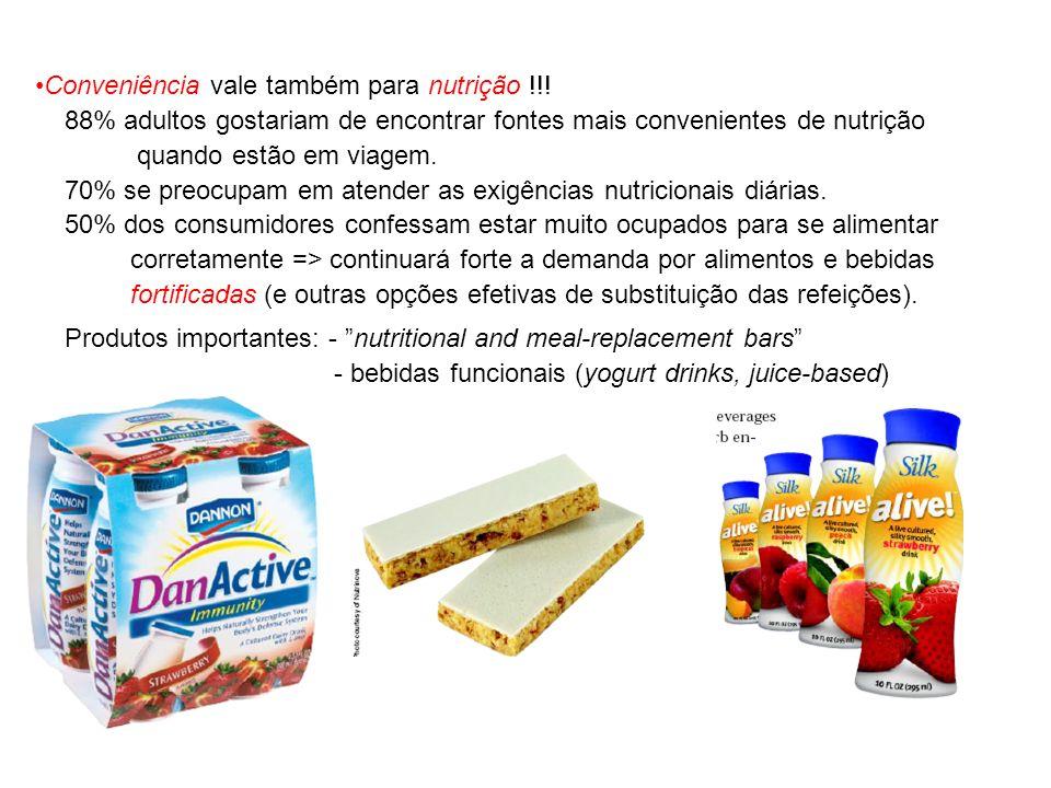 Conveniência vale também para nutrição !!!