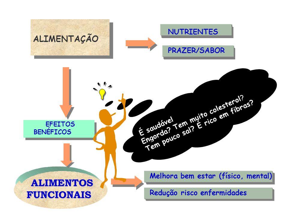 ALIMENTOS FUNCIONAIS ALIMENTAÇÃO ALIMENTACION NUTRIENTES PRAZER/SABOR