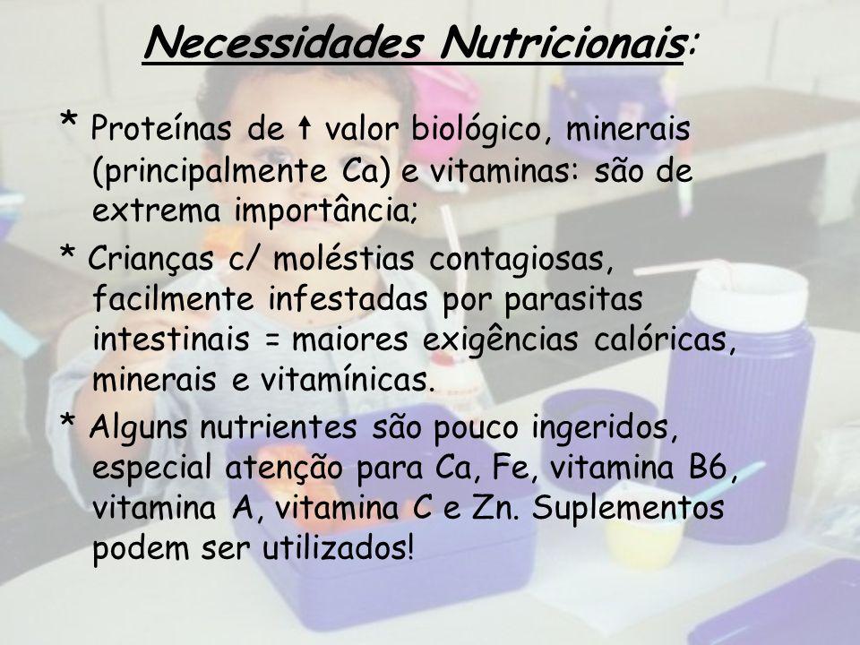 Necessidades Nutricionais: