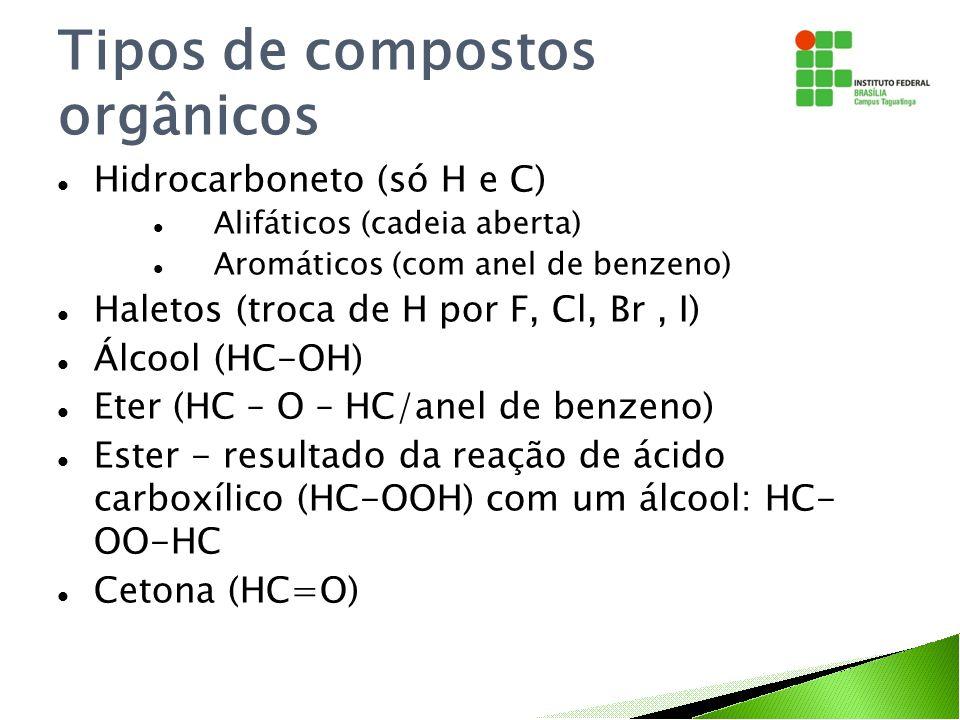 Tipos de compostos orgânicos