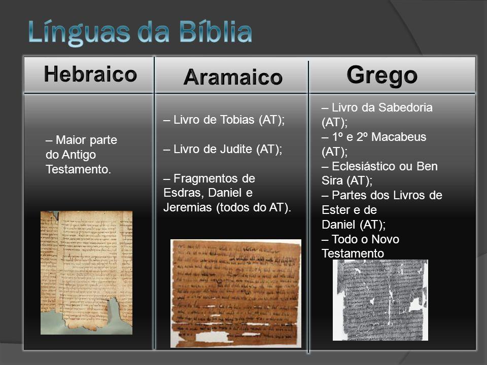 Línguas da Bíblia Grego Hebraico Aramaico – Livro da Sabedoria (AT);