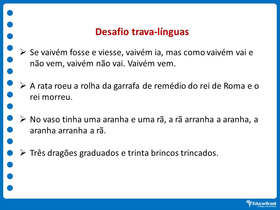 Desafio trava-línguas