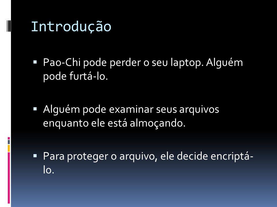 Introdução Pao-Chi pode perder o seu laptop. Alguém pode furtá-lo.