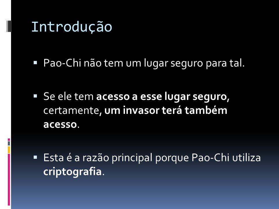 Introdução Pao-Chi não tem um lugar seguro para tal.