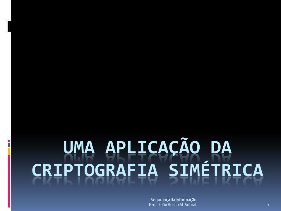 Uma aplicação da Criptografia Simétrica