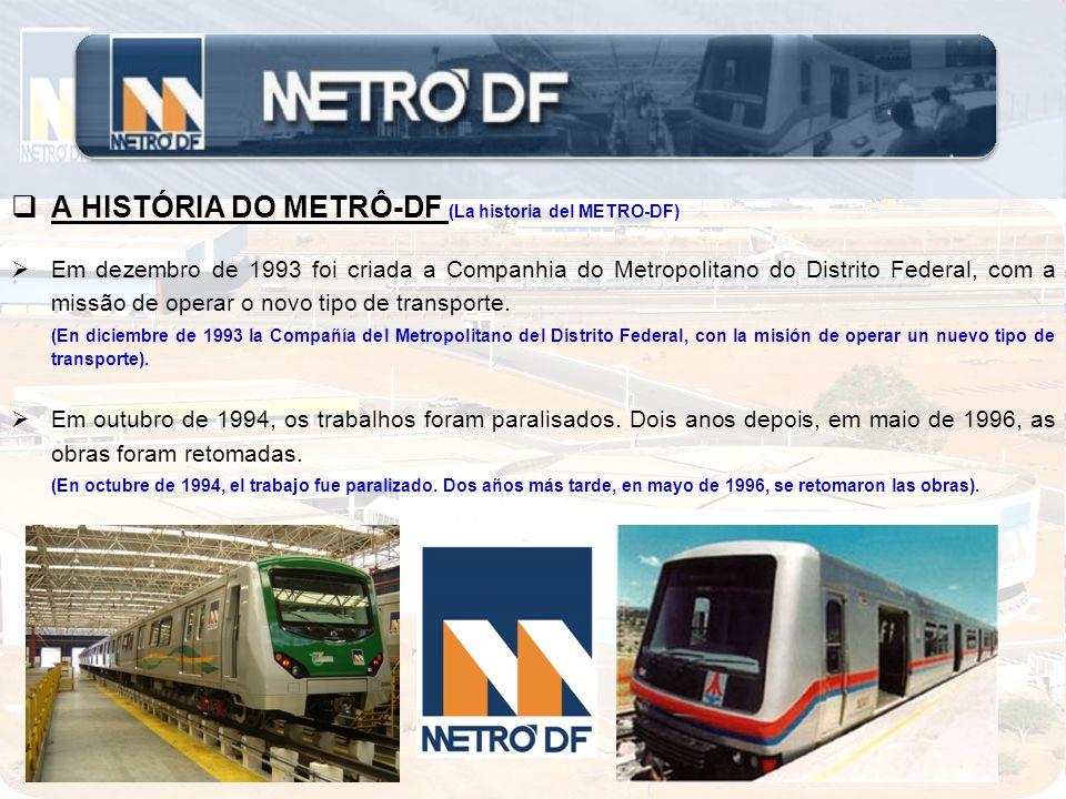 A HISTÓRIA DO METRÔ-DF (La historia del METRO-DF)