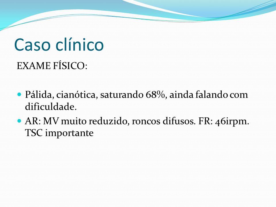Caso clínico EXAME FÍSICO: