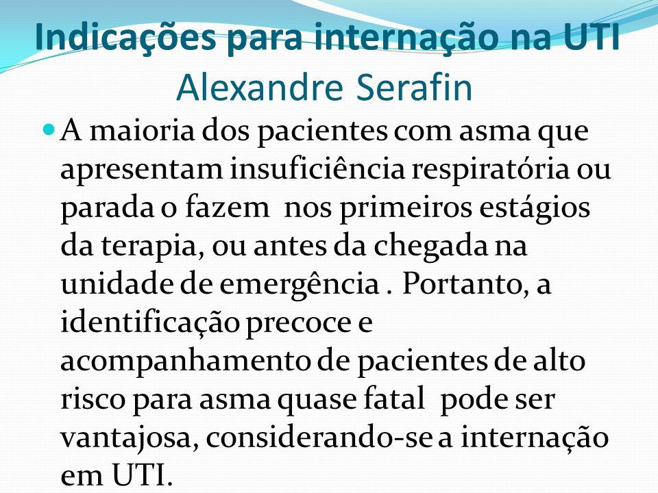 Indicações para internação na UTI Alexandre Serafin