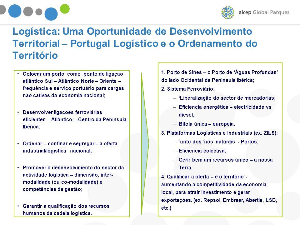 Logística: Uma Oportunidade de Desenvolvimento Territorial – Portugal Logístico e o Ordenamento do Território
