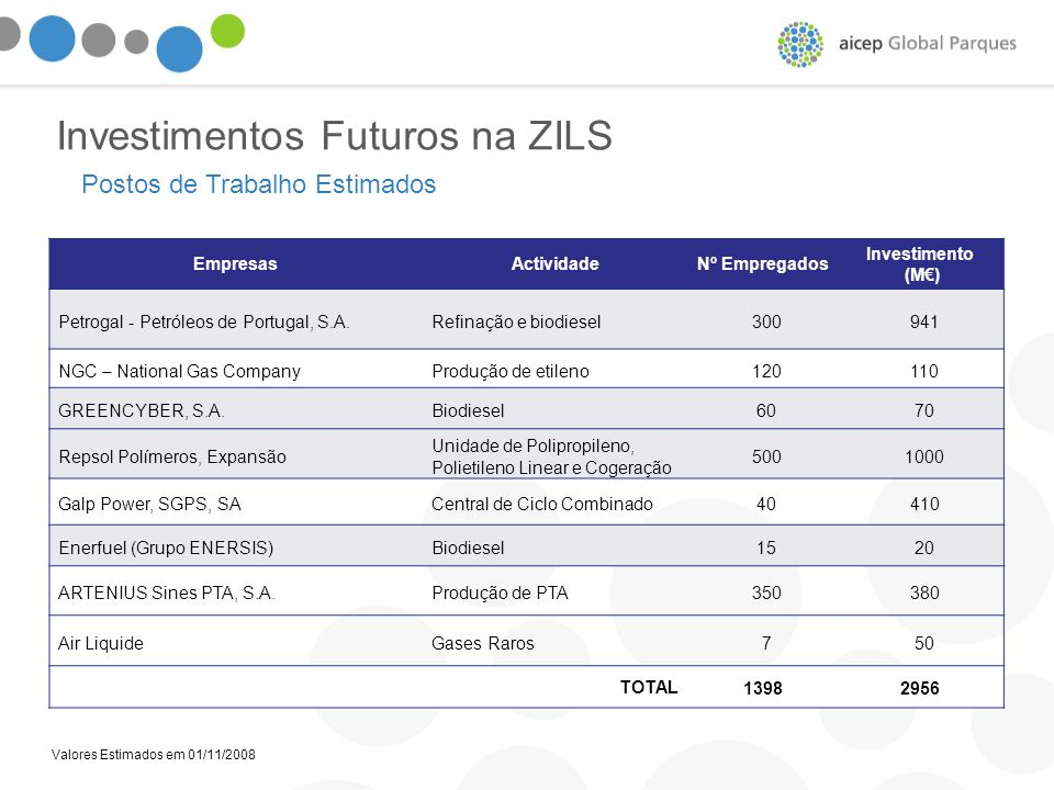 Investimentos Futuros na ZILS