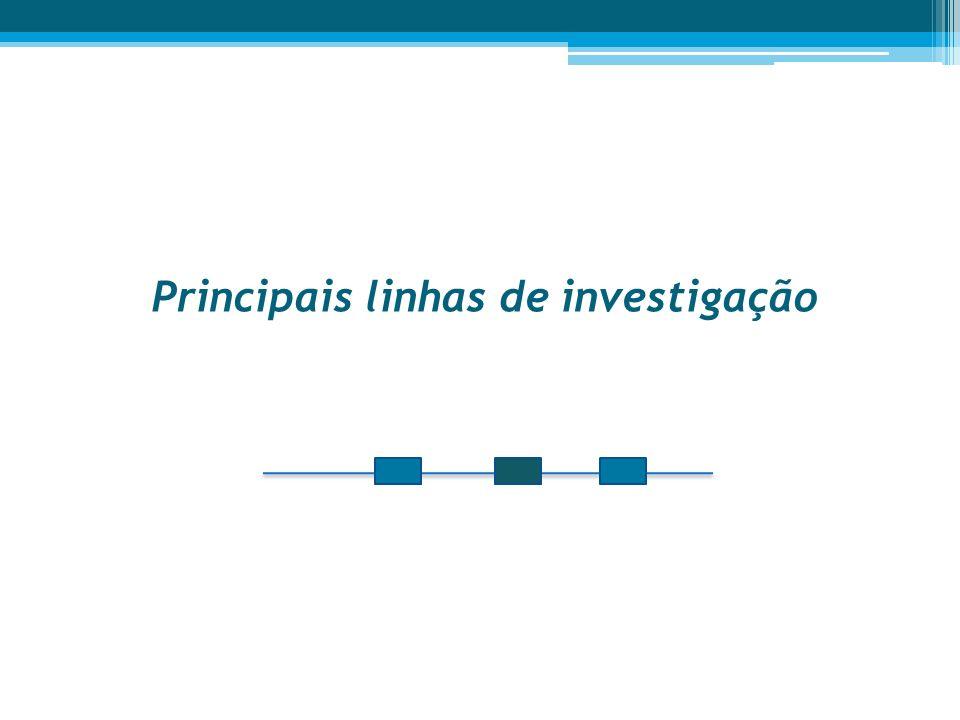 Principais linhas de investigação