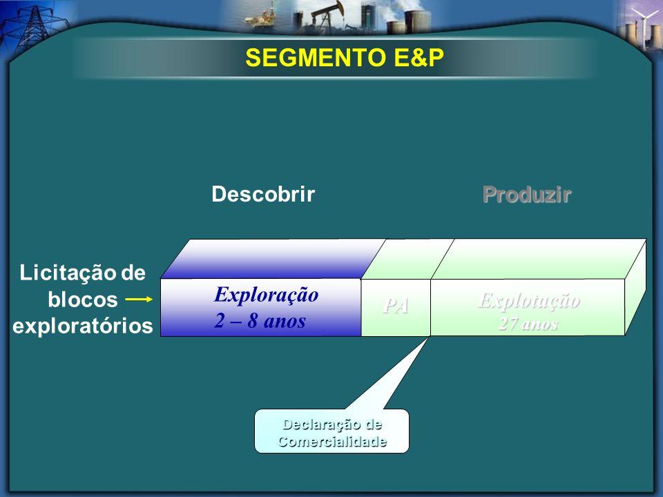 Licitação de blocos exploratórios Declaração de Comercialidade