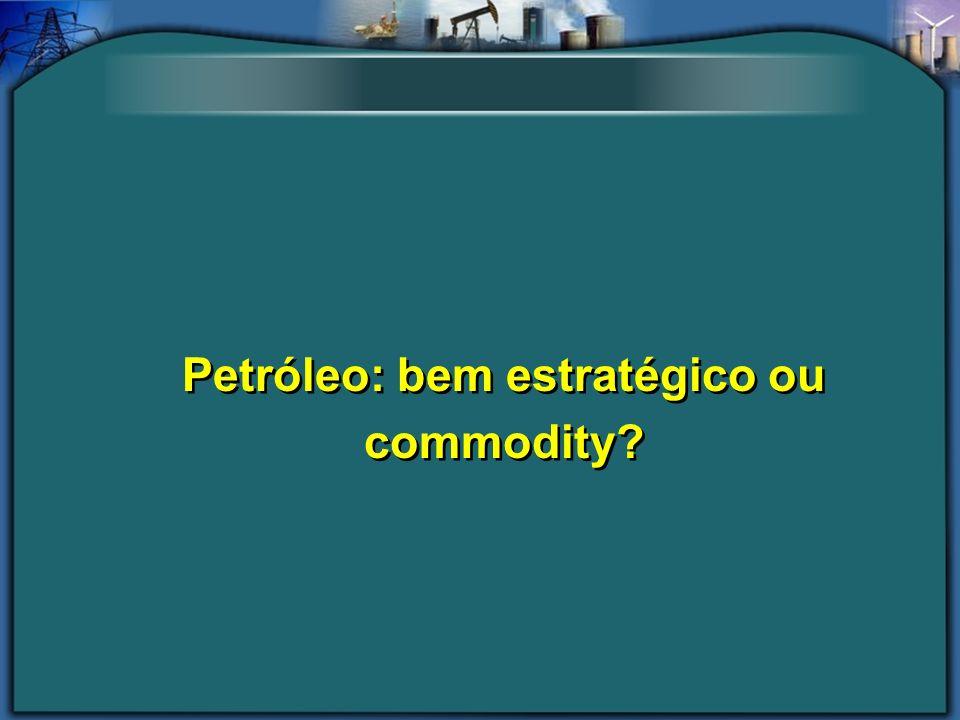 Petróleo: bem estratégico ou commodity
