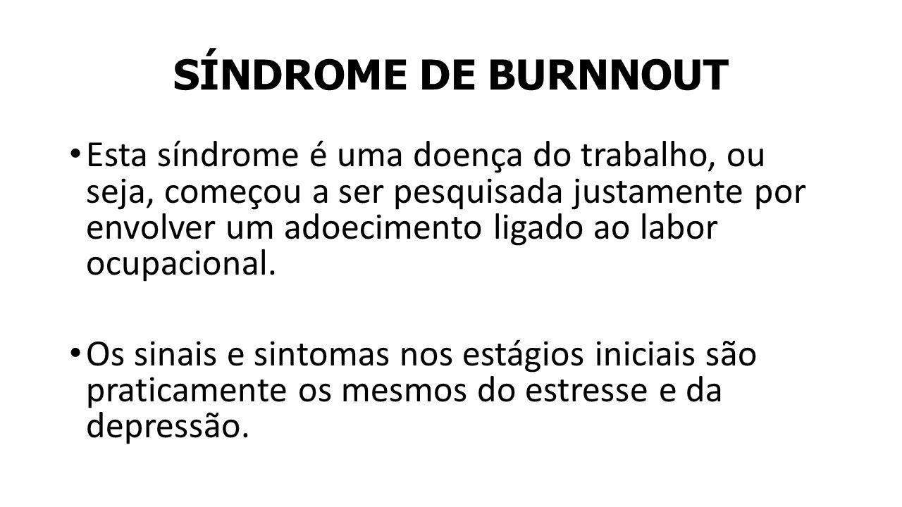SÍNDROME DE BURNNOUT
