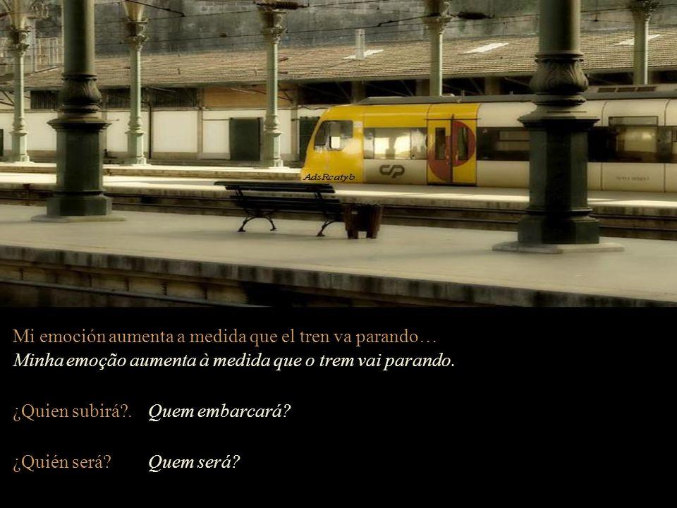 Mi emoción aumenta a medida que el tren va parando…