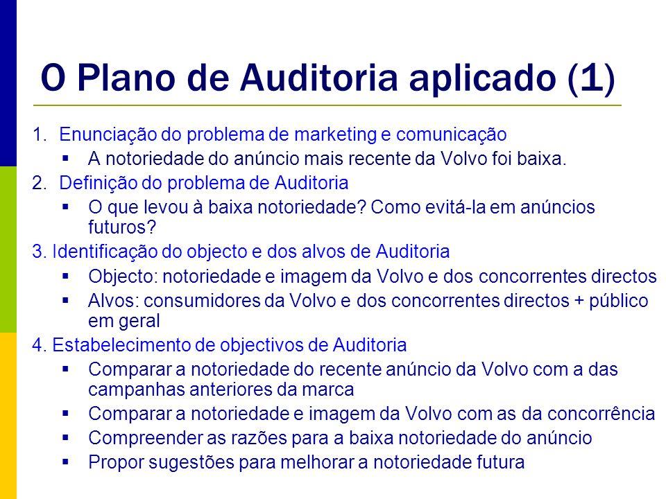 O Plano de Auditoria aplicado (1)