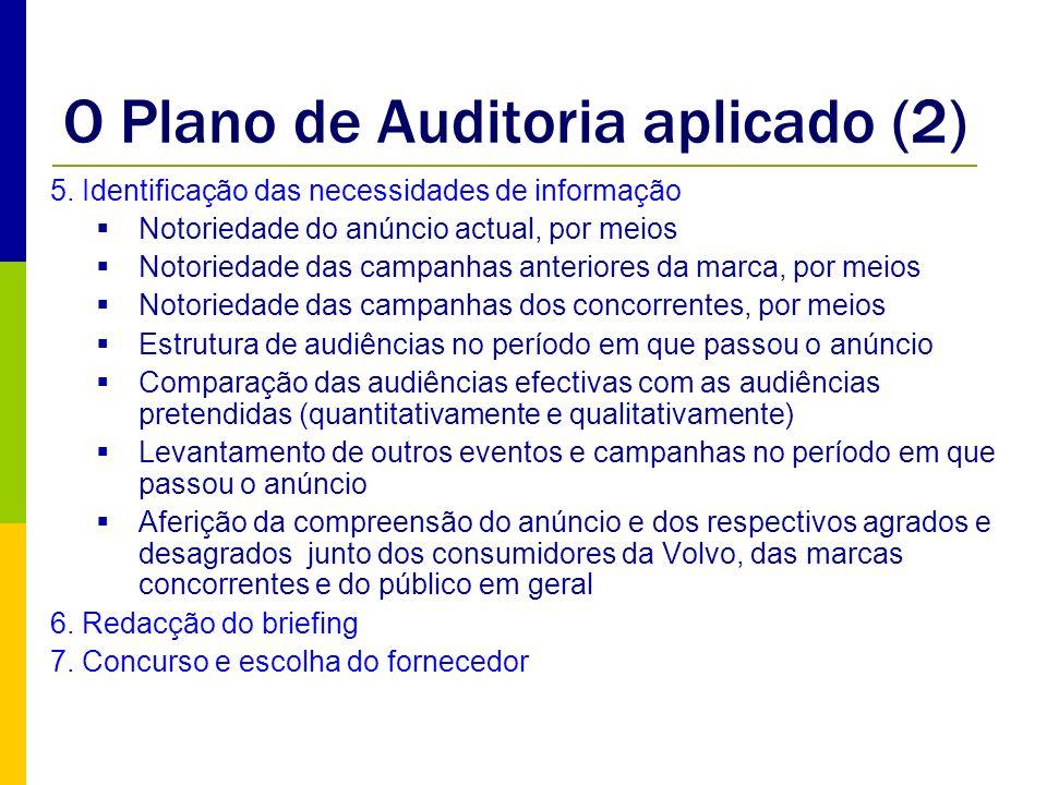 O Plano de Auditoria aplicado (2)