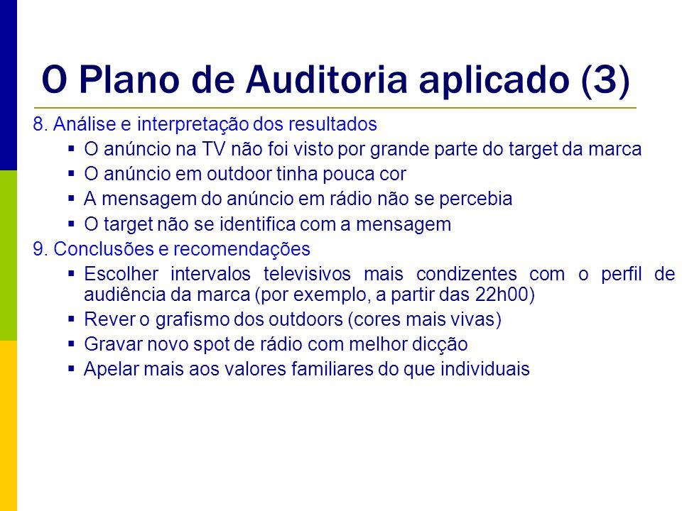 O Plano de Auditoria aplicado (3)
