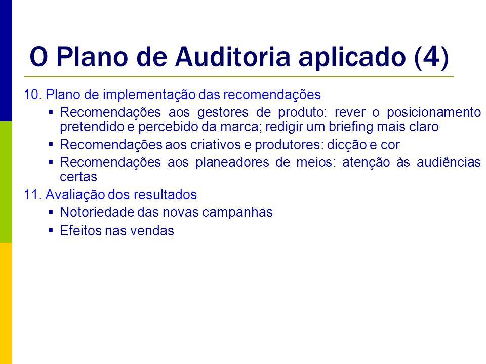 O Plano de Auditoria aplicado (4)