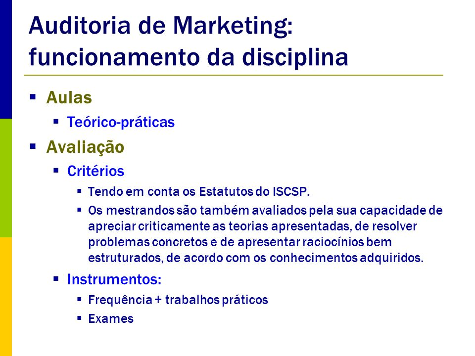 Auditoria de Marketing: funcionamento da disciplina