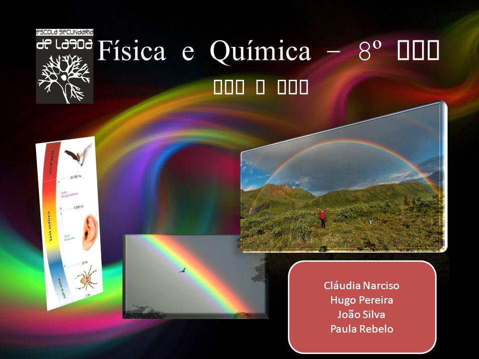 Física e Química – 8º Ano Som e Luz Cláudia Narciso Hugo Pereira