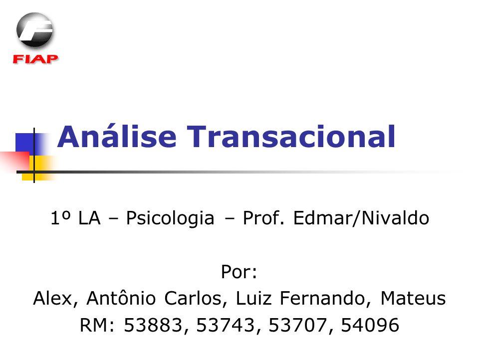 Análise Transacional 1º LA – Psicologia – Prof. Edmar/Nivaldo Por: