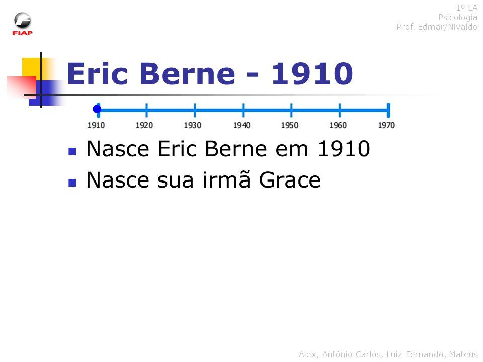 Eric Berne - 1910 Nasce Eric Berne em 1910 Nasce sua irmã Grace 1º LA