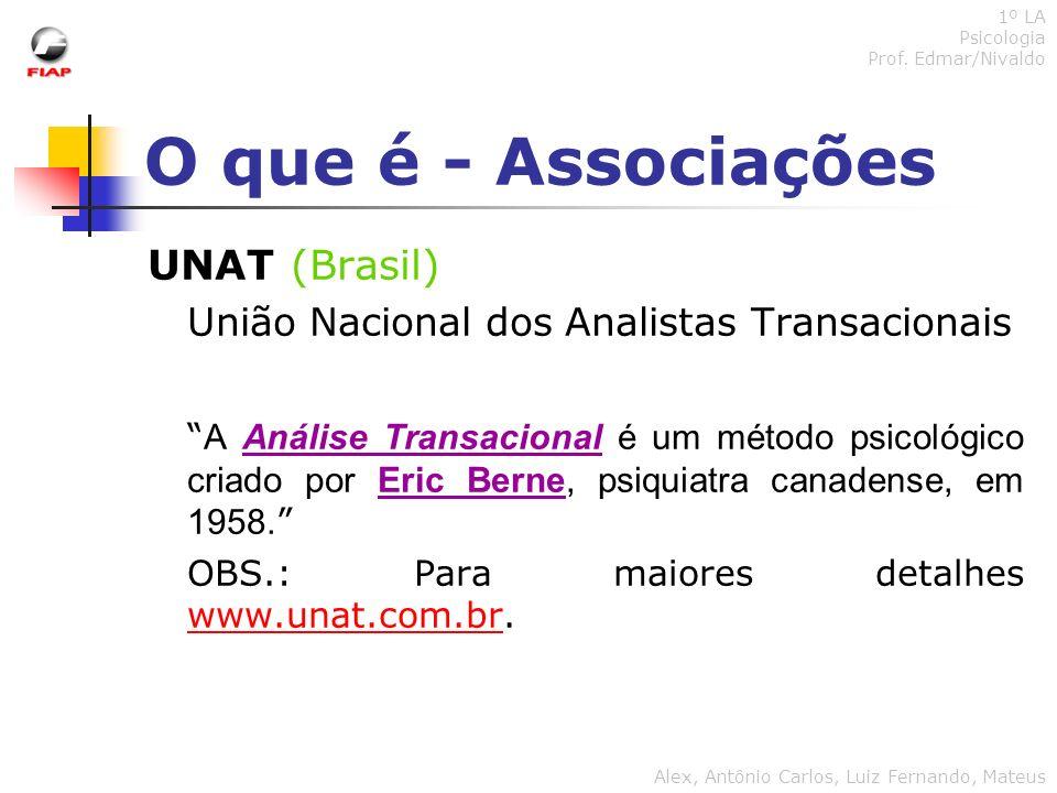 O que é - Associações UNAT (Brasil)