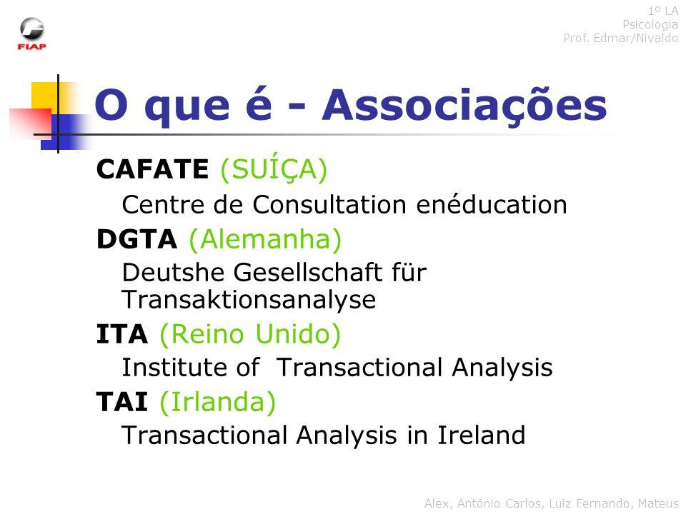 O que é - Associações CAFATE (SUÍÇA)