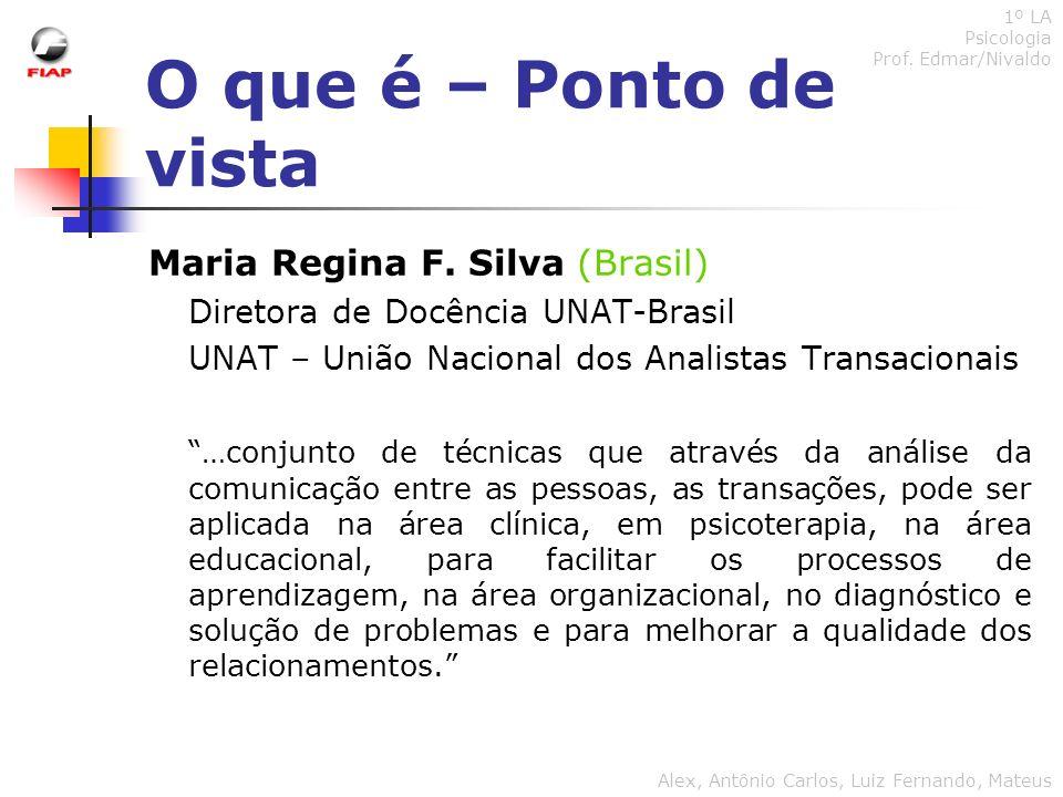 O que é – Ponto de vista Maria Regina F. Silva (Brasil)