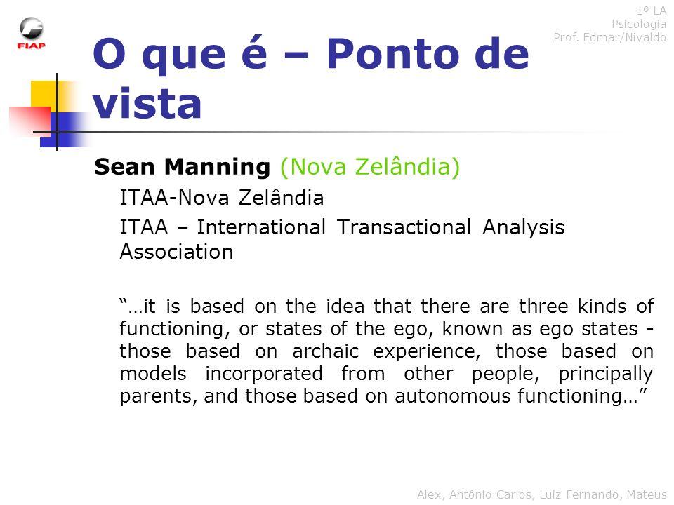 O que é – Ponto de vista Sean Manning (Nova Zelândia)