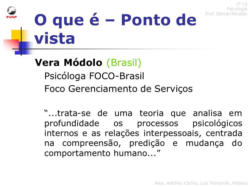 O que é – Ponto de vista Vera Módolo (Brasil) Psicóloga FOCO-Brasil