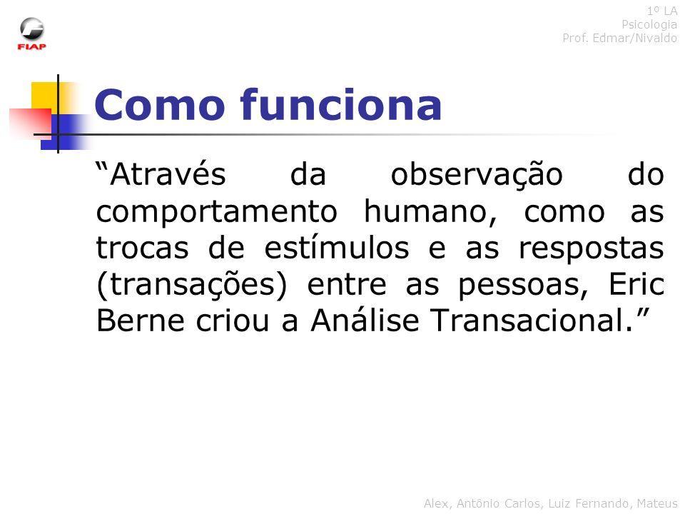1º LA Psicologia. Prof. Edmar/Nivaldo. Como funciona.