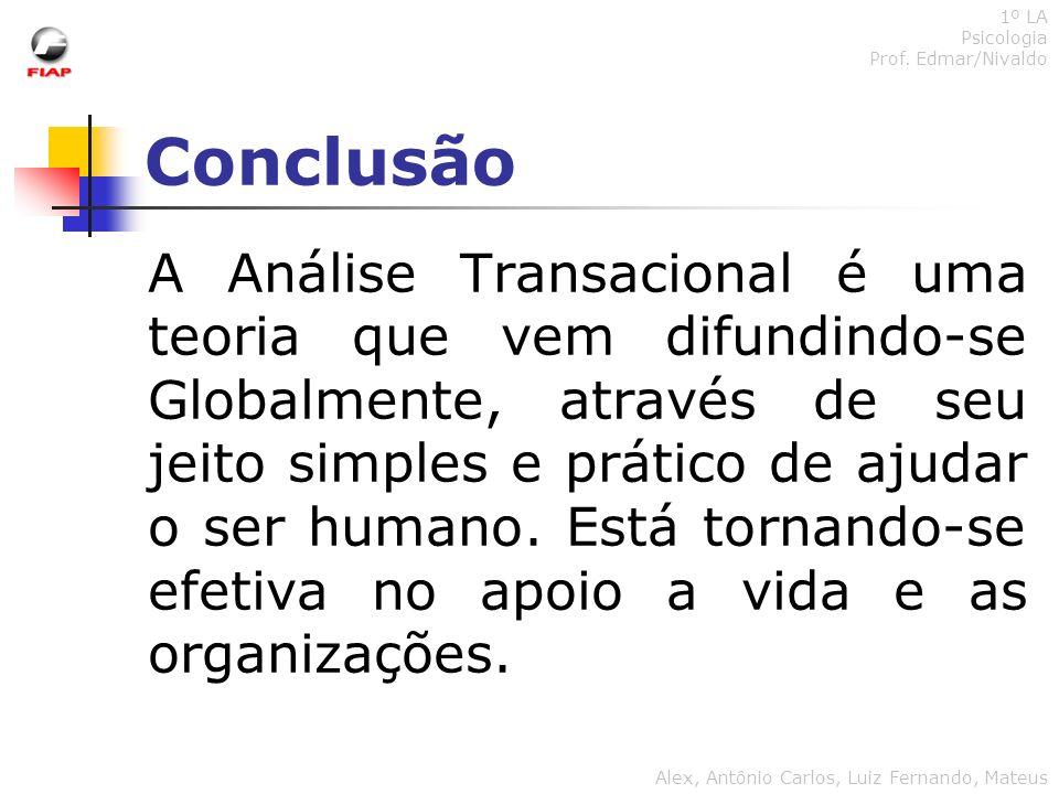 1º LA Psicologia. Prof. Edmar/Nivaldo. Conclusão.