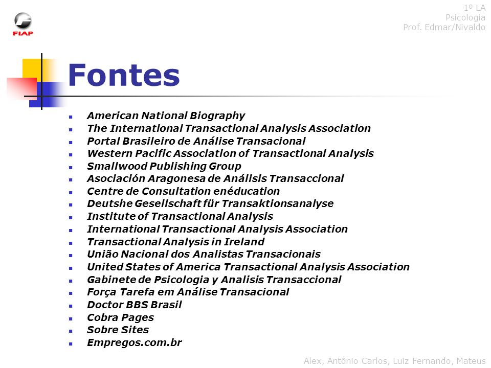 Fontes American National Biography
