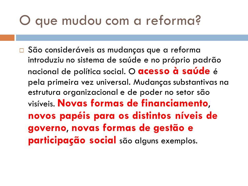 O que mudou com a reforma