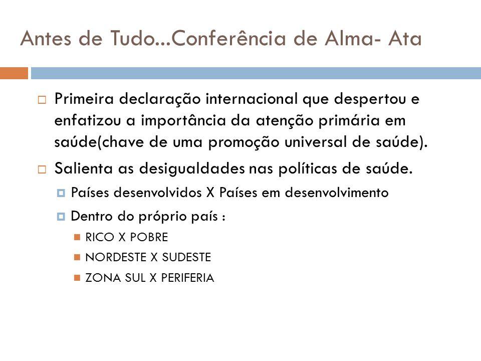 Antes de Tudo...Conferência de Alma- Ata