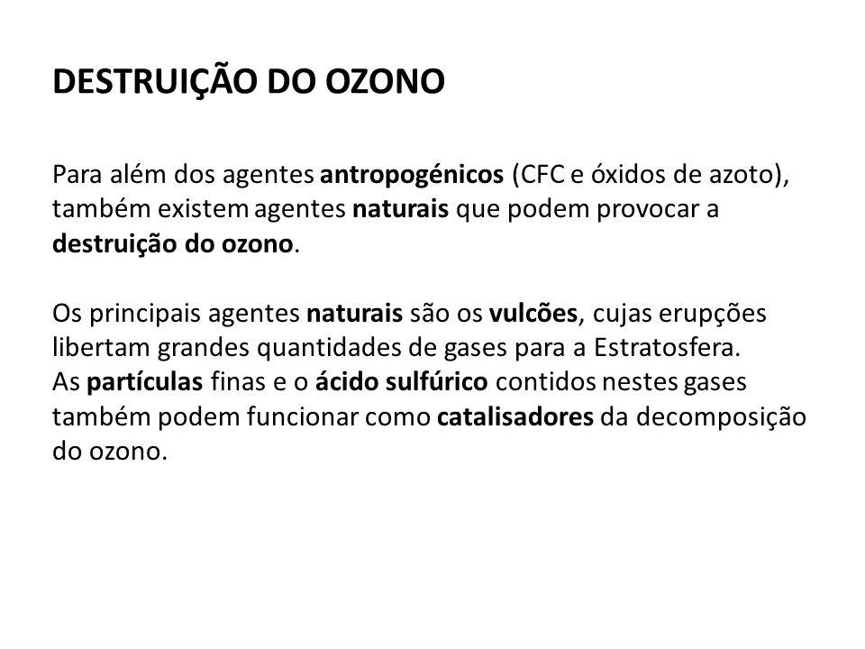 DESTRUIÇÃO DO OZONO