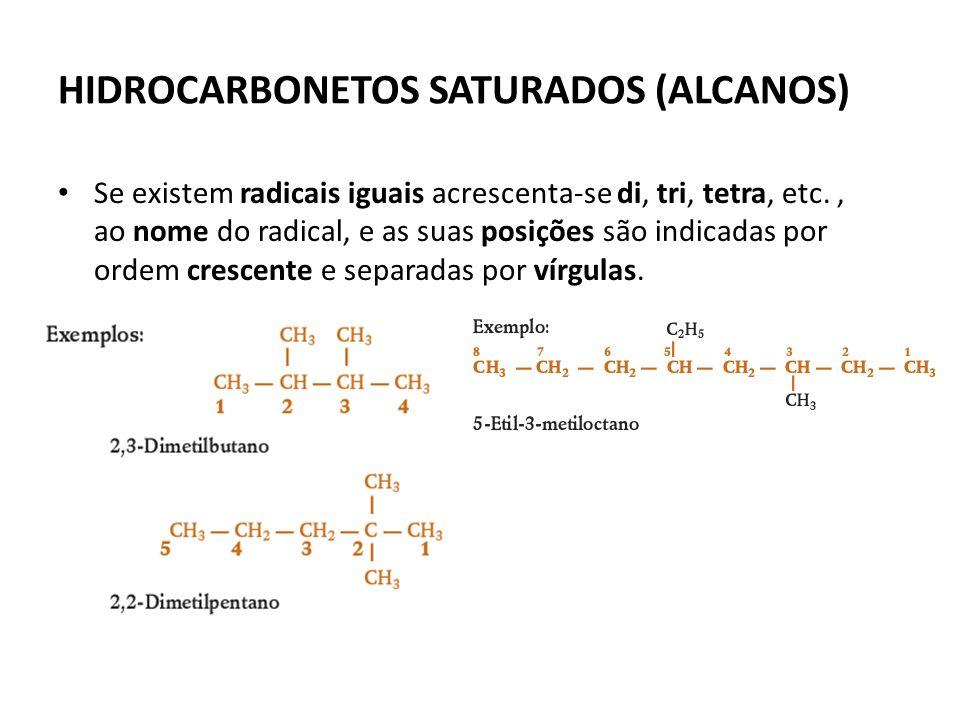 HIDROCARBONETOS SATURADOS (ALCANOS)