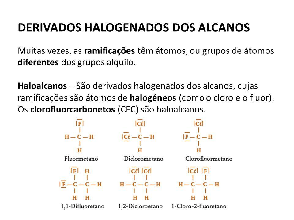 DERIVADOS HALOGENADOS DOS ALCANOS