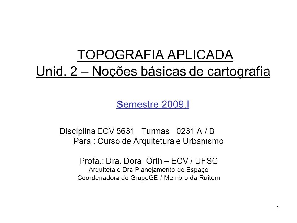 TOPOGRAFIA APLICADA Unid