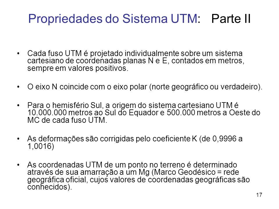 Propriedades do Sistema UTM: Parte II