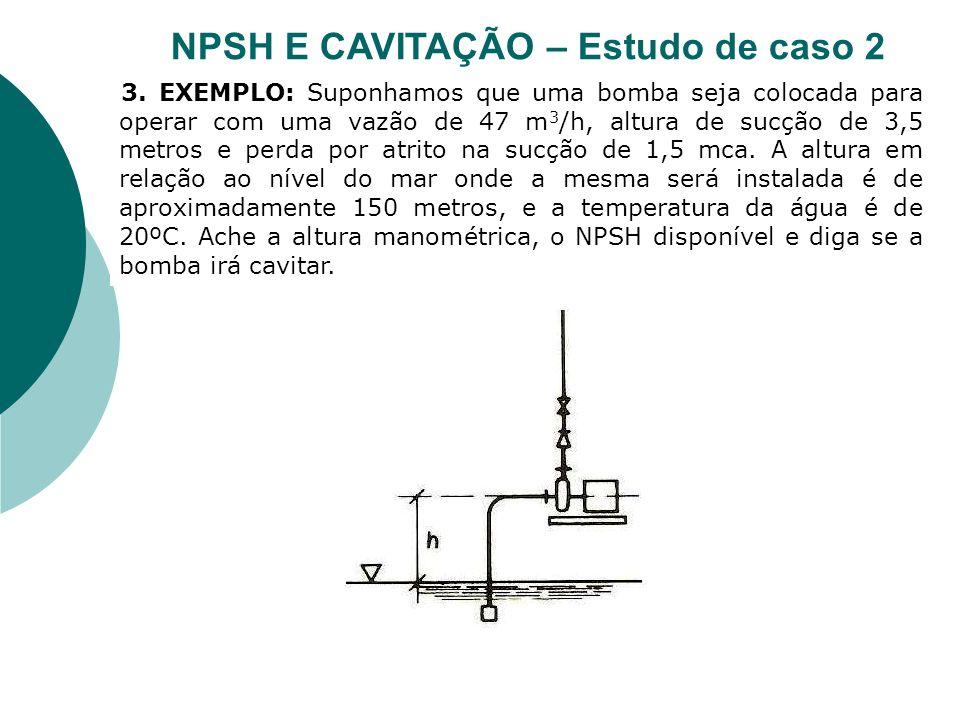 NPSH E CAVITAÇÃO – Estudo de caso 2