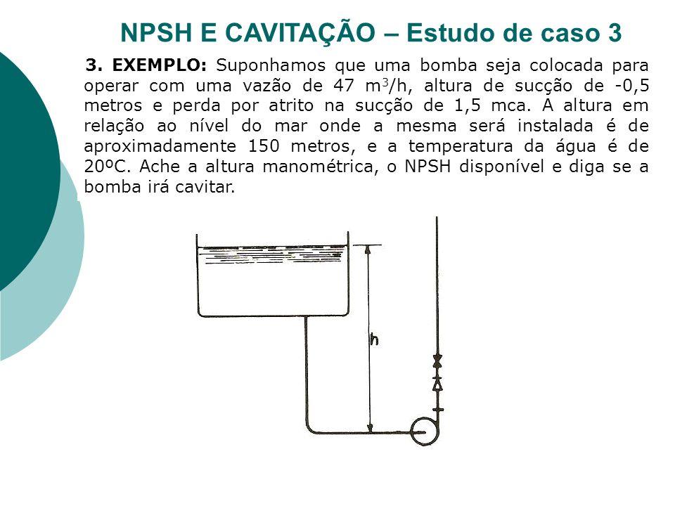 NPSH E CAVITAÇÃO – Estudo de caso 3