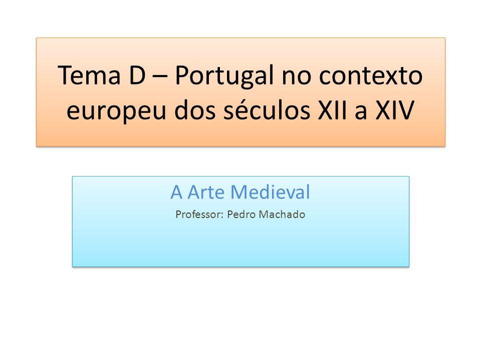 Tema D – Portugal no contexto europeu dos séculos XII a XIV