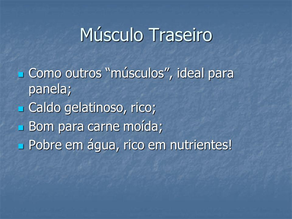 Músculo Traseiro Como outros músculos , ideal para panela;