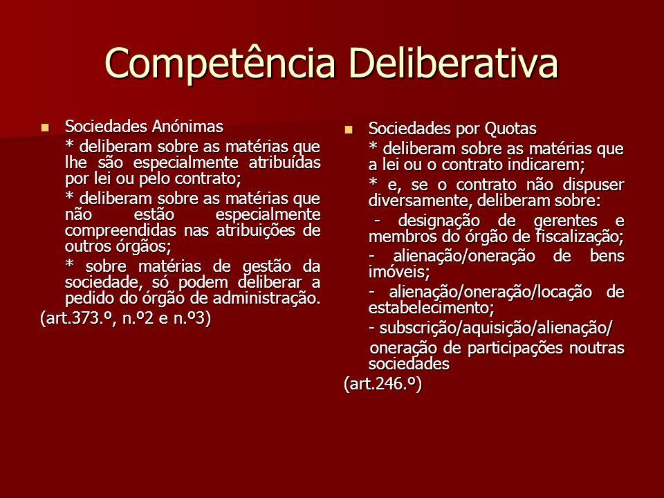 Competência Deliberativa
