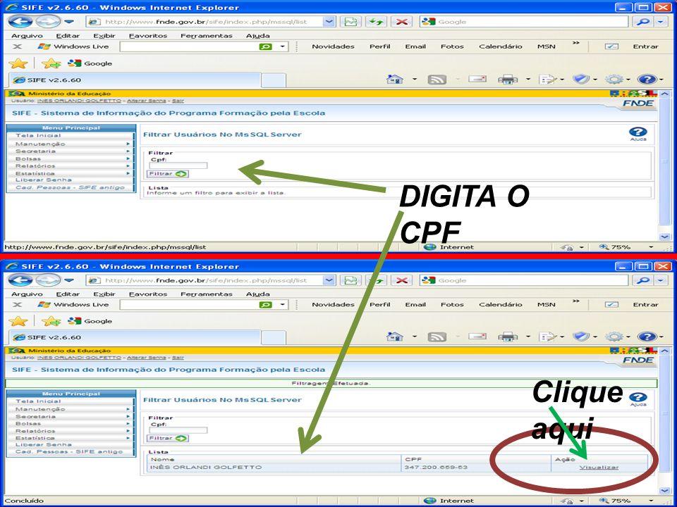 DIGITA O CPF Clique aqui
