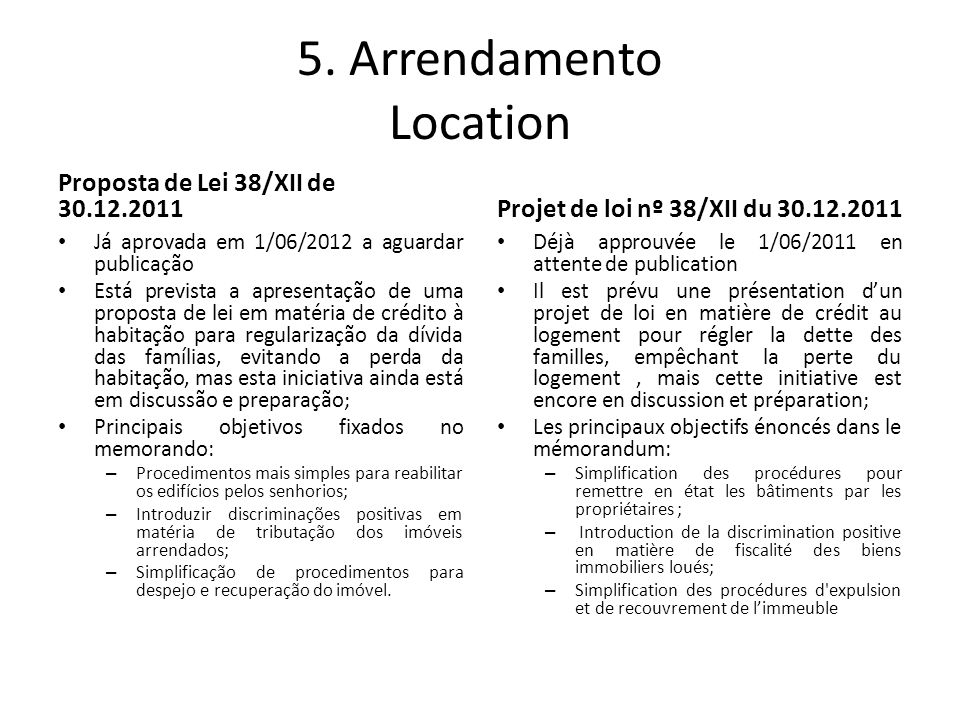 5. Arrendamento Location